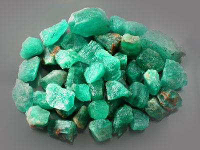 Mine Direct Emerald Facet Faceting Cabbing Rough Lot From