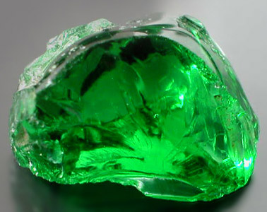 Mine Direct Electric Bottle Green Tanzanian Moldavite