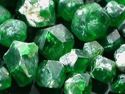 Irani Demantoid Chrome Green Garnet Top Crystal Facet